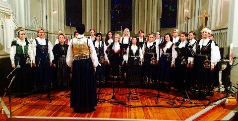 KONSERT: Det var koret Cantare som sto bak den lokalhistoriske musikkreisen i Sarpsborg kirke.