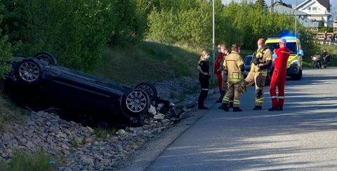 Alle nødetater rykket ut etter melding om trafikkulykke på Lisleby.