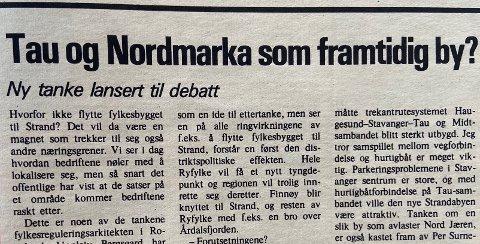 FAKSIMILE: Fra Strandbuen i desember 1976.