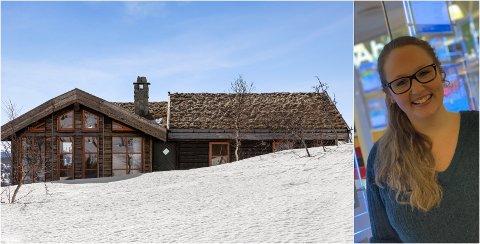 SELGER SÅ DET SUSER: Stine Fostvedt Dale i DNB Eiendomsmegling selger hytter så det suser. Hytta på bildet ligger i Tuddal og gikk for 400 000 over prisantydning.