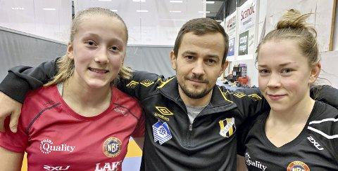 På landslaget: Braatt-trener Gabbe Kantor er glad for at både Vilde Kjelland-Olsen (til venstre) og Silje Kippernes er på landslaget.