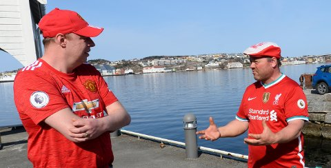 For en gangs skyld enige: Kjetil Strand i Red Army og Johnny Rotvær i Liverbirds Kristiansund er skjønt enige i at den planlagte nye superligaen i fotball er helt høl i hodet.