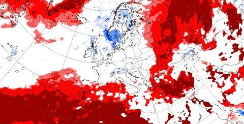 Slik ser sesongvarselet ut for den første uka i oktober. Dersom varselet slår til blir det våtere enn normalt.