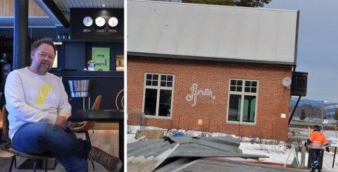 KLARTE SEG BRA: Restauranten Fjorn klarte seg godt gjennom fredagens dramatikk. Thomas Nyland sier de fortsatt holder på planen om å åpne til påske.