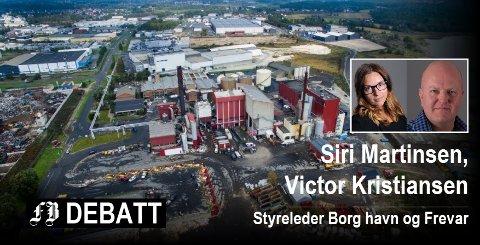 Prosjektet går ut på å hente ut CO2 fra røkgassen ved energigjenvinningsanleggene til Frevar og Bio-El på Øra. Arkivfoto: Erik Hagen