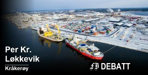 Per Kr. Løkkevik henviser til at Norge er eksperter på sjøkabler. Bilde fra Nexans' lasting av en svær kabel som legges mellom Saudi-Arabia og Qatar.  Foto: Erik Hagen