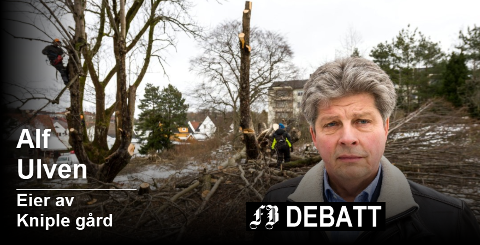 – Jeg skal altså ikke få grave rundt stubbene og fjerne disse og planere igjen hullet, skriver Alf Ulven. Foto: Jan Erik Skau