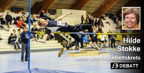 De planlagte idrettshallene vil gi friidretten et løft med innendørsanlegg ved Greåker vgs. Bildet er fra  stevne i Konstenhallen. Foto: Kent Inge Olsen