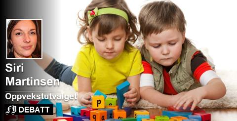 – Ap vil gi hjelpe kommunene å skaffe flere voksne i barnehagen, skriver Siri Martinsen som er Ap-politiker og leder av oppvekstutvalget i Fredrikstad. Foto: Colourbox