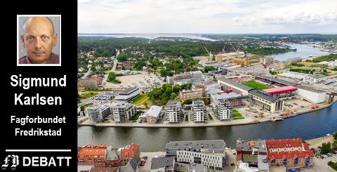 Sigmund Karlsens minnes FMVs storhetstid og hva bedriften betød for byen, og fortsetter: – Nå har Fredrikstad muligheten igjen i en ny tidsalder. Her bør våre politikere, rådmann og byens næringsliv sammen sørge for at det blir boliger for alle.