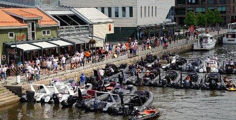 REPRISE: Lørdag vil Bryggepromenaden få besøk av disse Brig-båtene igjen.