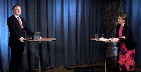 Jon-Ivar Nygård (Ap) og Ingjerd Schou H) er uenige om hvem som har skylden for at det ikke er bygd dobbeltspor gjennom Østfold. Men  begge vil ha jernbane gjennom Fredrikstad.