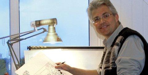 TEGNER: Donald-tegner Arild Midthun kommer til Hamar.