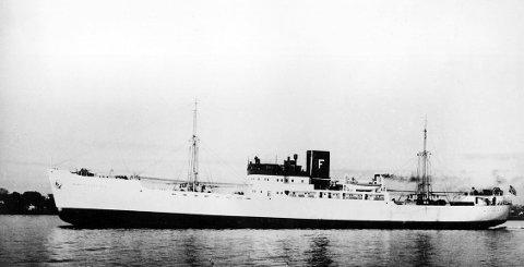 «OLAF FOSTENES»: Haugesund-skipet spilte en sentral rolle da passasjerer fra «Volendam» ble berget i Atlanteren. FOTO: HAUGESUND REDERIFORENING