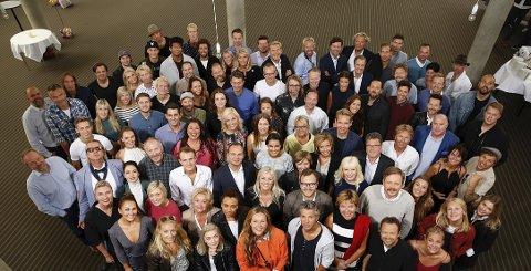 Samlet:Tirsdag var høstprofilene til TV 2 samlet på et brett i Bergen. Foto: Handout / TV 2