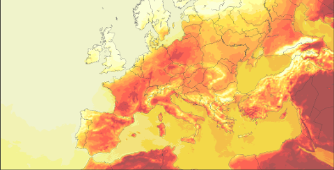 Det er ventet ekstreme temperaturer i Europa denne måneden.