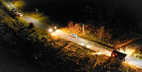 ULYKKEN: Dette bildet er tatt samme dag som ulykken inntraff på Vannøya 14. november i fjor. Foto: Politiet