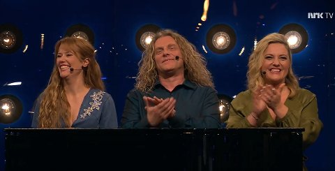 STERK LOKAL KRAKK: Hege Øversveen, Trond Nagell-Dahl og Ida Marie Ringerud ga publikum en smak av regionens musikk- og kulturliv på NRK fredag kveld.