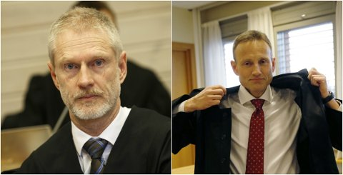 MØTES I RETTEN: Steffen Brandstad (t.h.) forsvarer en mann i 40-årene som er tiltalt for vold og mishandling av en ung gutt. Tore Müller Famestad (t.v.) er bistandsadvokat for den fornærmet gutten i tenårene.