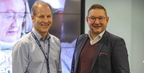 STABILT: Martin Mello og Stig Berg-Johansen i Sparebank 1 BV tror 2019 ikke vil bringe med seg noen store overraskelser.