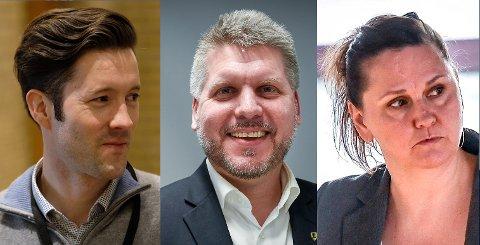 Kim-André Åsheim (t.v.) er ansatt i RU for å jobbe med batterifarbrikken. Freyr har selv ansatt Marius Meisfjord Jøsevold og Hilde Rønningsen.