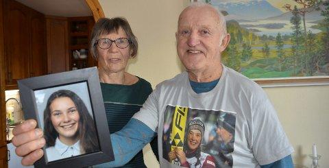 HOPPSUKSESS: May og John Trongmo fra Bakklandet i Hemnes er besteforeldre til landslagshopperen Silje Opseth, som for tida gjør det skarpt i verdenscupen. Foto: Trond Isaksen