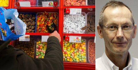 KOSTHOLD: Ungdom spiser mindre godteri, drikker mindre brus og spiser mer grønt. - For tidlig å rope hurra, mener fedmeforsker Jøran Hjelmesæth, men understreker at det er en positiv utvikling. Foto: NTB Scanpix/Sykehuset i Vestfold