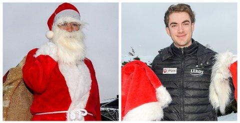 JULENISSE: Jørgen Sæves (25) avkrefter myten om at julenissen bor på nordpolen, for Sæves bor i Askim.
