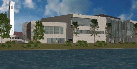 Det nye kulturhuset skal stå ferdig sommeren 2023.
