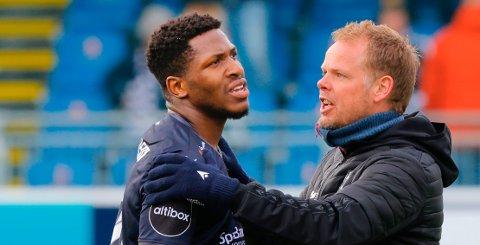 Pemi Faris hadde et par gode sjanser mot Bodø/Glimt, men både spissen og trener Christian Michelsen må erkjenne at målene lar vente på seg i 2021.