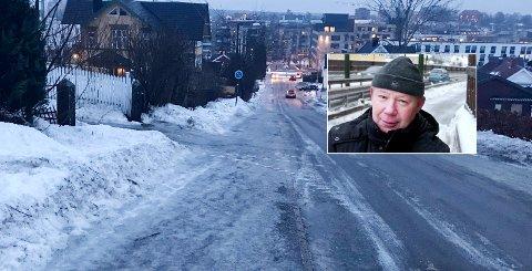 GODT RÅD: Som gammel veiingeniør mener Hans Petter Sundby å kunne bidra med en god løsning for glatte veier.