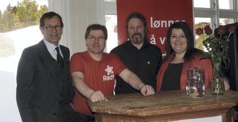 Appellanter: Fra venstre Ståle Støen, Ronny Bekken Larsen, Stian Grøndalen Berget og Mali Solvang holdt kraftfulle appeller med dagsaktuelle tema.
