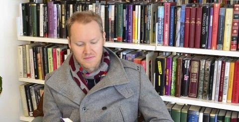 Kommer til Ås bibliotek:Geir-Stian Ulstein. Foto: privat
