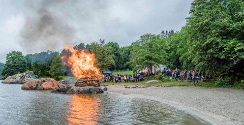 VIL IKKE HA FYLL: St.hans-feiring på Breivoll.