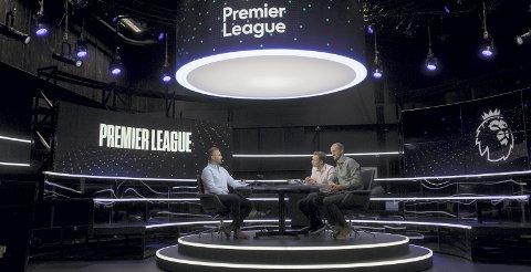 Champions League-studio i TV 2 med (f.v.) Jon Børrestad og Brede Hangeland i forgrunnen. Om to år er moroen slutt etter at kanalen tapte kampen om TV-rettighetene.