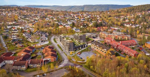 74 LEILIGHETER: Konnerud Senter Panorama består av 74 leiligheter, både selveier og borettslag.