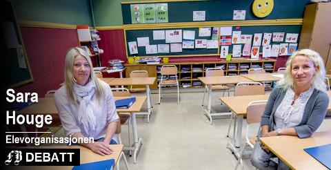 – La dette være det siste året vi møter stengte dører når vi trenger hjelp som mest, skriver Sara Houge. På bildet helsesøster Inger Johanne Bråten (til venstre) og sjefshelsesøster Ragnhild Folde fra en tidligere reportasje om skolehelsetjenesten.