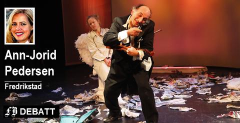 Studium Actoris i forestillingen «Lost Angels» fra 2010. Ann-Jorid Pedersen frykter at det nå er teatergruppen selv som vil gå tapt.