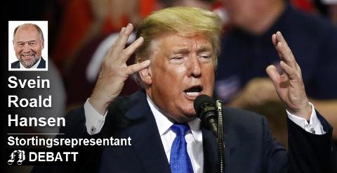 – Varmere i trøya, blir han enda mer selvsikker og stoler enda mer på egne instinkter, skriver Svein Roald Hansen om Donald Trump etter å ha lest Bob Woodwards bok.