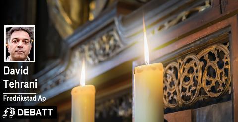 – Jeg syns det er uheldig å droppe den årlige julegudstjenesten fordi man frykter at  det kan støte foreldre og barn med en annen religiøs bakgrunn, skriver Tehrani.