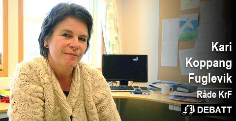 Kari Koppang Fuglevik, Råde KrF, sier hun er heldig som har funnet sitt parti.