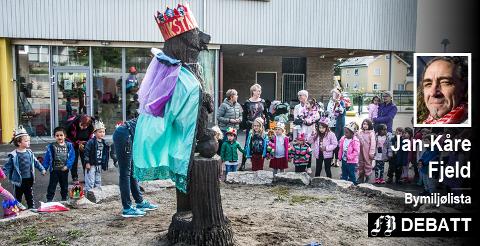 – Det er bred enighet om satse på alle de felter der barn og unge befinner seg, skriver Bymiljølistas gruppeleder. På bildet, fest i Kiæråsen barnehage under byjubileet i fjor.
