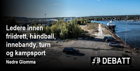 Dette er tomta som er utpekt for idrettshall ved en ny Frederik II videregående skole på Værste.