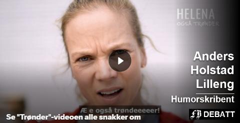 «Helena» fra tv-serien Heimebane er med å fronte trønderidentiten i sangen som har gått som en farsott i den samlede Trøndelag fylkeskommune. Sangen kan spilles av nede i teksten, ikke fra dette bildet. Bilde fra nrk.no