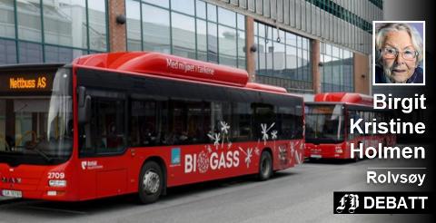Den beste måten å si ifra om at en bussrute dekker et behov, er å bruke den, mener Birgit Kristine Holmen som anbefaler rute 7 til Rekustadåsen også til trimmere som vil bruke Rolvsøymarka eller Glommastien. Arkivfoto: Anders Standal