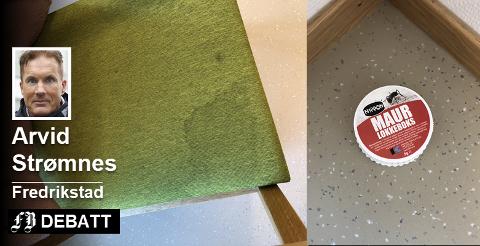 Strømnes klager på urinflekker på stoler og sen reaksjon når det har kommet maur inn på rommet.  Tilsendte bilder