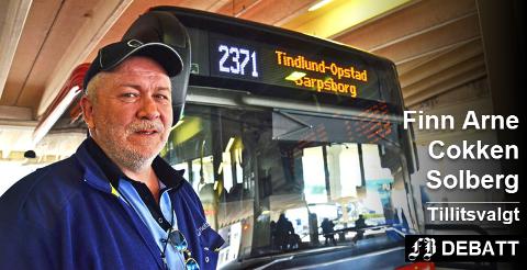 Finn Arne Cokken Solberg sier sjåførene bør vente med å legge frem sine  negative innspill til rutenettet skal evalueres.