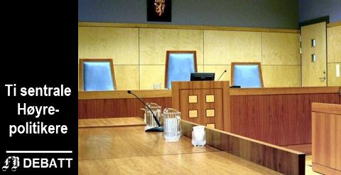 – Vi tror neppe forslagene vil bli stående i sin nåværende form etter den politiske behandlingen av forslagene, heter det om forslaget som kutter antall tingretter i Norge fra 60 til 22.