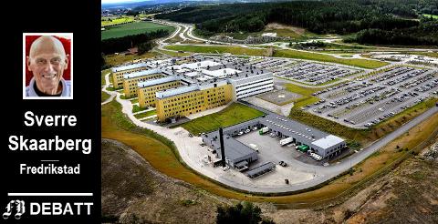 Sykehuset Østfold Kalnes, stort og flott, men for lite. Skaarberg vil vite når  sykehuset blir påbygget og hvor mange leveår  sykehuset har.