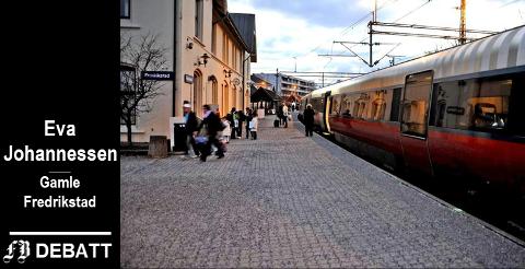 – Alt som går på skinner er ekstremt sårbart, enten det er tog, trikk eller T-bane, skriver Eva Johannessen, men anbefaler gjerne toget for hyggens skyld.